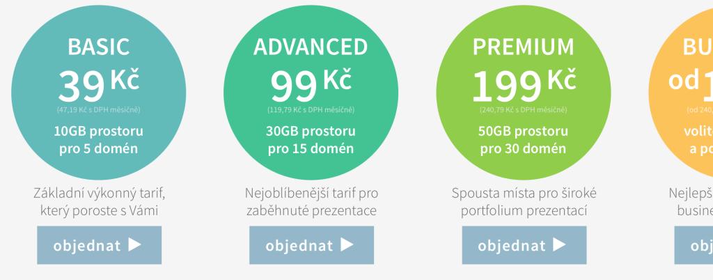 Webhostingové tarify Ebola