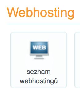 Wedos seznam webhostingů